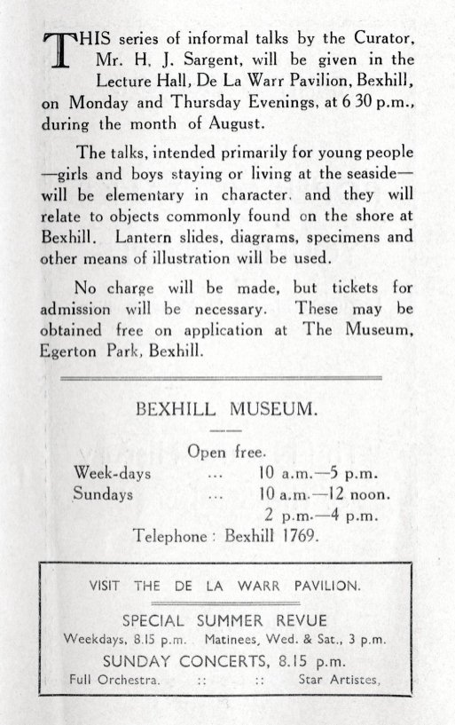 MUS-021 - Museum Talks at DLWP August 1936
