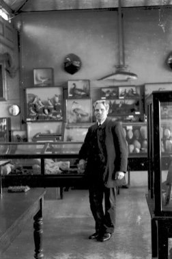 Mus-012 - Rev J C Thompson in Museum 1922 a