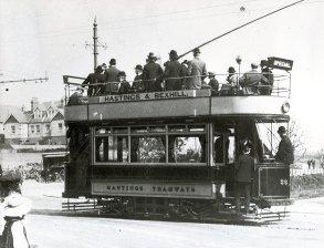 Tram on Sea Road - 17.4.1906