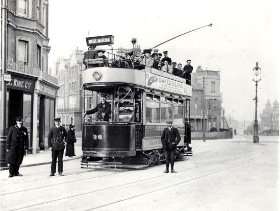 Tram outside Metropole 1906
