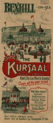 KUR-027 - Kursaal programme, c1901