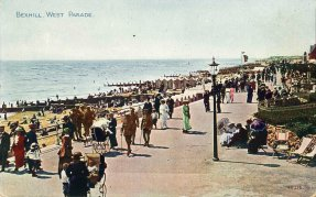 BWP-019 - West Parade, Bexhill from the Colonnade (WW1)