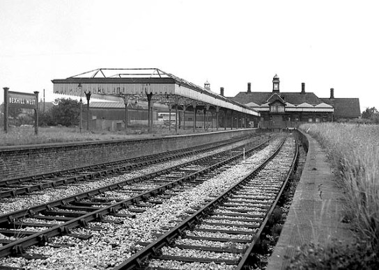 BW-044 - Bexhill West station looking south from platform 3 in late 1964 or 1965,