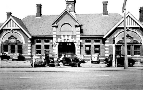 BW-058 - Bexhill West station forecourt in March 1968. On 16 January 1968 the government decided to abolish the Civil Defence Corps and before the end of the year they vacated the old station building.