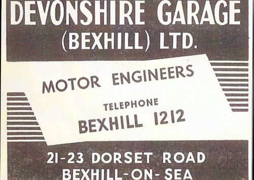 Devonshire Garage Advert