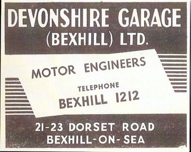 Devonshire Garage Advert
