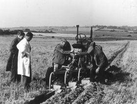HO-055 - Tractor & plough in field