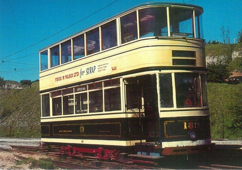 189 standard tram at Crich