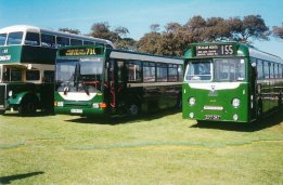 3 M&D buses Oval Bus Rally Hastings 5-2005