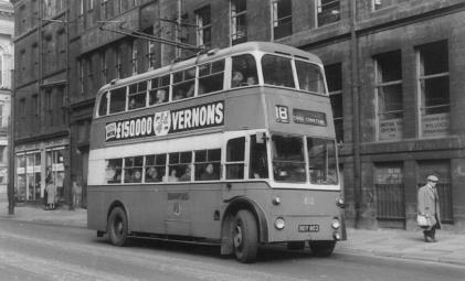 812 BDY802 service 18 to Tong Cemetery in Union St 29-4-1961