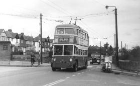 85 BDY807 serv to Park Wood @ Barming 19-4-1963