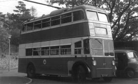 87 BDY810 serv to Barming turning @ Loose 2-11-1964