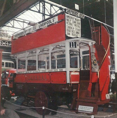 B340, LA9928 General open top bus, Clapham Museum