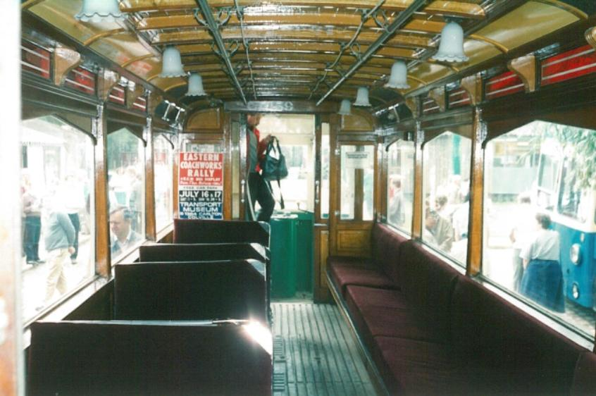 Blackpool 159 lower deck interior 1988
