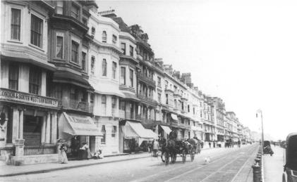 Eversfield Place looking east, horse & carriage c1910