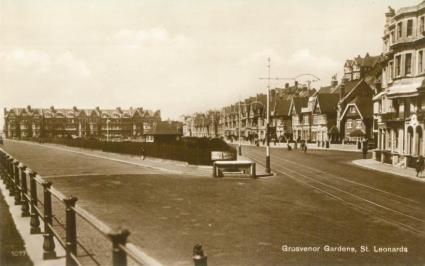 Grosvenor Gardens, West Marina looking west