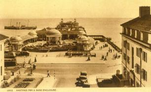 Hasting Pier with paddle-steamer
