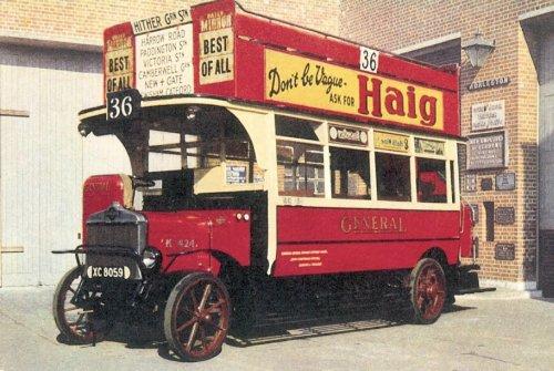 K424 General open top d-d bus b1919, Clapham Mus
