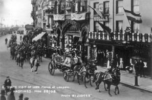 Lord Mayor of London's visit 28-11-1908, seafront -Robertson St Junction