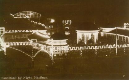 Pier illuminated at night looking south-west 24-8-1926