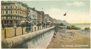 Promenade Eversfield Place looking east c1910 coloured