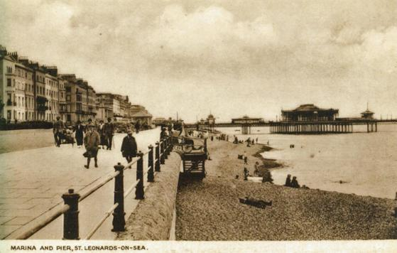 St Leonard's pier & Marina from west