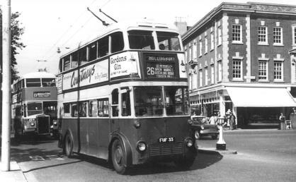 Trolley 33 service 26 1960s