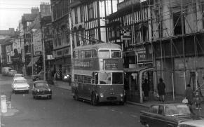 Trolley 52 Barming serv in High St 2-11-1964