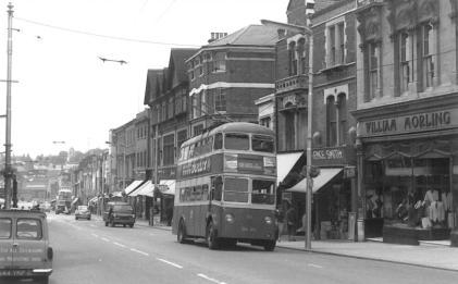 Trolley 55 Park Wood serv in High St 20-6-1964