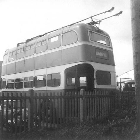 Trolley 57 GKP512 rear nearside view, Bexhill West 22-4-1967