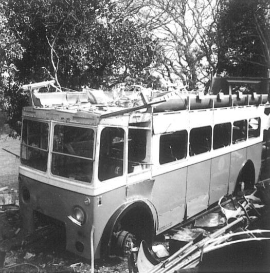 Trolley GKP512 being scrapped 5, 2-5-1967