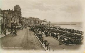 White Rock Parade looking east from tram 25-7-1912