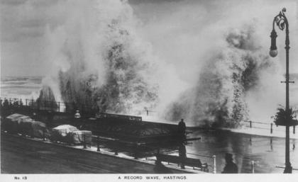 White Rock Parade rough sea 25-5-1913