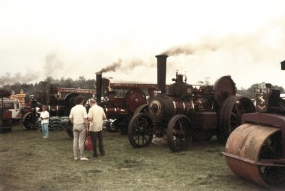 Traction engines 1 poss FOT Broad Farm 1980s