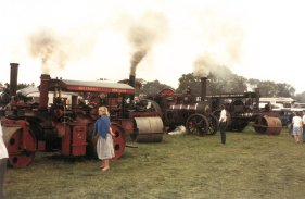Traction engines 2 poss FOT Broad Frm 1980s