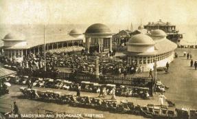 Bandstand & pier entrance pc 11-9-1920