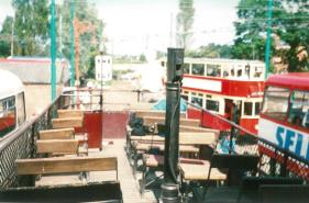 open top static tram upper deck 1988