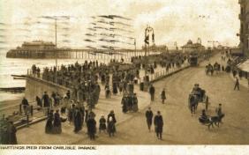Pier from Carlisle Parade (postcard) 30-8-1918