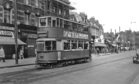 103 route 35 to Highgate, post-war