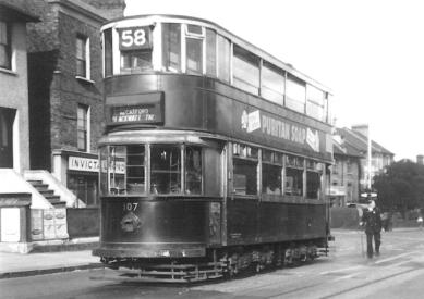 107 route 58 to Blackwall Tnl 18-8-1951