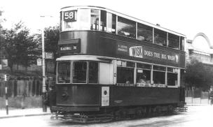 110 route 58 to Blackwall Tnl @ Hornimans, post-war