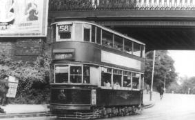 119 route 58 to Blackwall Tnl in Lordship Lane, post-war