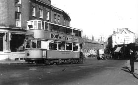 120 route 58 to Blackwall Tnl, post-war