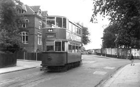 127 route 84 to Embankment @ Peckham terminus, post-war