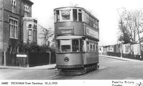 134 route 56 to Embankment @ Peckham terminus 10-5-1951