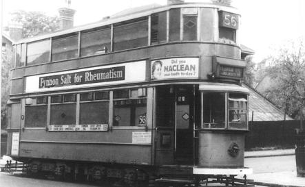 135 route 56 @ Peckham Rye terminus, wartime livery
