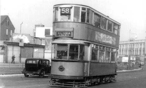 150 roue 58 to Vic @ Lewisham, post-war
