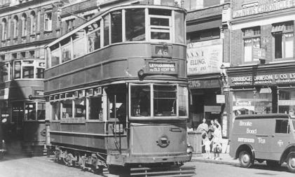 335 route 46 to Southwark @ Woolwich 1948