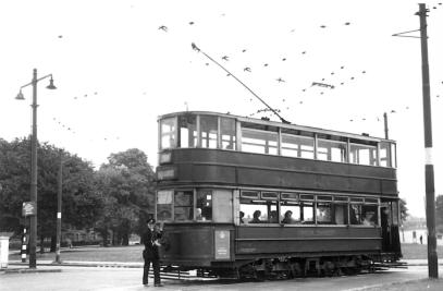 343 @ Eltham Roundabout after dewirement 14-6-1952