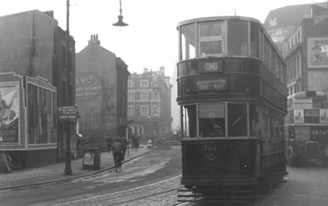 344 route 36 to Abbey Wood in Westminster Bridge Rd 4-1-1950